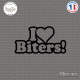 Sticker JDM I Love Biters! Sticks-em.fr Couleurs au choix