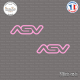 2 Stickers ASV Logo sticks-em.fr