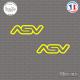 2 Stickers ASV Logo Sticks-em.fr Couleurs au choix