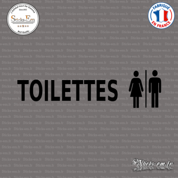 Sticker Mural Toilettes Mixtes