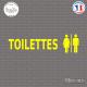 Sticker Mural Toilettes Mixtes Sticks-em.fr Couleurs au choix