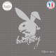Sticker Bad Boy Lapin PlayBoy Sticks-em.fr Couleurs au choix