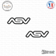 2 Stickers ASV Logo