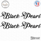 2 Stickers Black Pearl XL Sticks-em.fr Couleurs au choix
