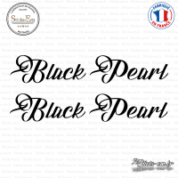 2 Stickers Black Pearl
