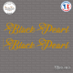 2 Stickers Black Pearl Sticks-em.fr Couleurs au choix