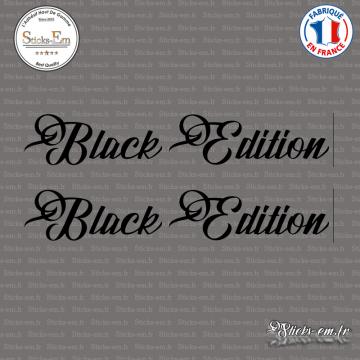 2 Stickers Black Edition