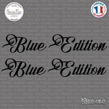 2 Stickers Blue Edition XL