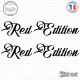 2 Stickers Red Edition XL Sticks-em.fr Couleurs au choix