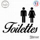 Sticker Panneau toilettes