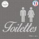 Sticker Panneau toilettes Sticks-em.fr Couleurs au choix
