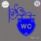 Sticker Plaque pour WC Sticks-em.fr Couleurs au choix