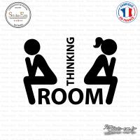 Sticker Toilettes Thinking Room sticks-em.fr