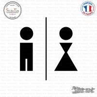 Sticker Toilettes Caricature homme et femme Sticks-em.fr Couleurs au choix