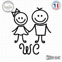Sticker WC Figure enfants Sticks-em.fr Couleurs au choix