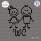 Sticker WC Figure enfants Sticks-em.fr Couleurs au choix