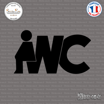 Sticker Signalétique WC