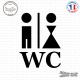 Sticker Homme et femme - WC
