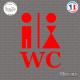 Sticker Homme et femme - WC sticks-em.fr