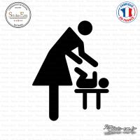 Sticker Nursery WC Sticks-em.fr Couleurs au choix