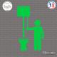 Sticker Toilettes homme et chasse d'eau Sticks-em.fr Couleurs au choix