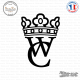 Sticker WC couronne