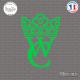 Sticker WC couronne Sticks-em.fr Couleurs au choix