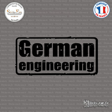 Sticker JDM German Engineering