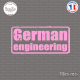 Sticker JDM German Engineering Sticks-em.fr Couleurs au choix