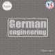 Sticker JDM German Engineering Sticks-em.fr Couleurs au choix