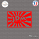 Sticker JDM Old Japan Flag Sticks-em.fr Couleurs au choix