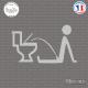 Sticker WC Flemmard Sticks-em.fr Couleurs au choix