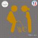 Sticker WC Toilettes Sticks-em.fr Couleurs au choix