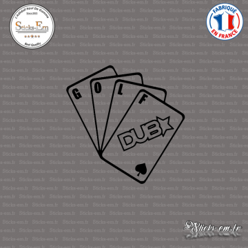 Sticker JDM Jeu de Cartes Golf DUB