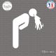Sticker Toilettes Vomit Sticks-em.fr Couleurs au choix