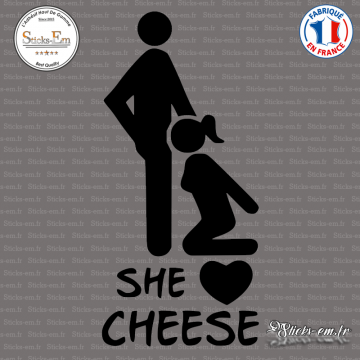 Sticker JDM She Loves Cheese