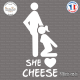 Sticker JDM She Loves Cheese Sticks-em.fr Couleurs au choix
