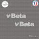 2 Stickers Beta Sticks-em.fr Couleurs au choix