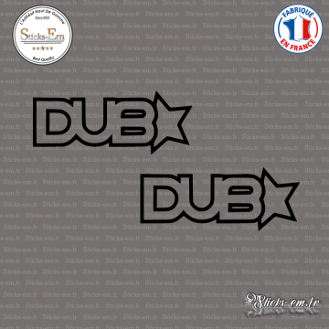 2 Stickers JDM Dub Star