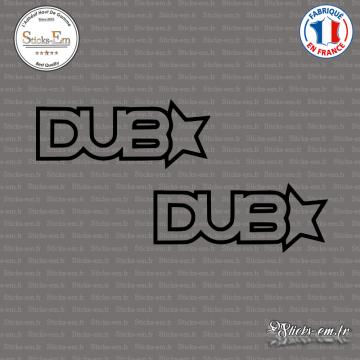 2 Stickers JDM Dub Star