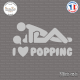 Sticker JDM I love popping Sticks-em.fr Couleurs au choix