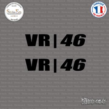 2 Stickers Valentino Rossi VR-46