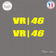 2 Stickers Valentino Rossi VR-46 Sticks-em.fr Couleurs au choix