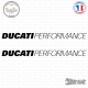 2 Stickers Ducati Performance