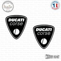2 Stickers Ducati Corse Sticks-em.fr Couleurs au choix