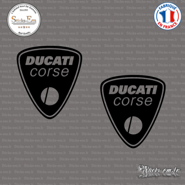 2 Stickers Ducati Corse