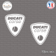 2 Stickers Ducati Corse Sticks-em.fr Couleurs au choix