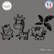 Sticker Zoo Fun Sticks-em.fr Couleurs au choix