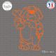 Sticker Chien et Os Sticks-em.fr Couleurs au choix