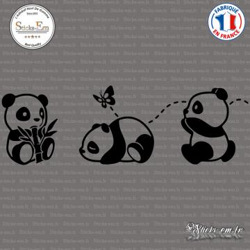 Sticker 3 petits pandas